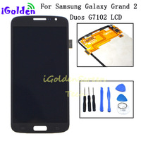 For Samsung Galaxy Grand 2 Duos G7102 G7105 G7106 G7108 Touch Screen Digitizer Sensor Glass With LCD Display Panel Assembly