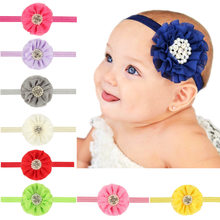 1 Piece MAYA STEPAN Children Pearls Rhinestone Flower Head Hair Band Flowers Accessories Baby Newborn Headband Headwear Headwrap(China)