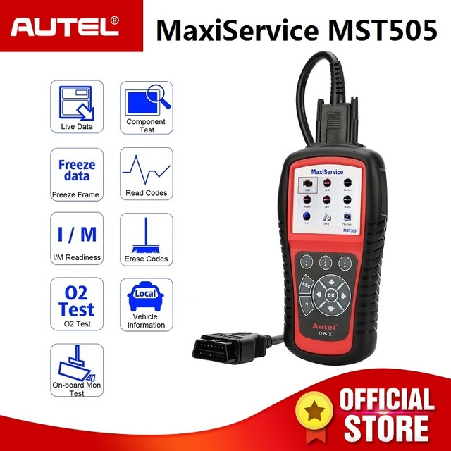 Best Price Autel MST505 OBD2 Code Reader Scanner for Audi Seat Skoda Cars All Systems Diagnosis Oil EPB Full OBDII Functions Printing Data