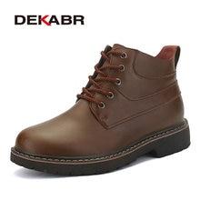 Dekabr/Мужские зимние сапоги Высокое качество Зимние сапоги из натуральной кожи Для мужчин теплая рабочая обувь Для мужчин водонепроницаемые полусапожки размер 38-44