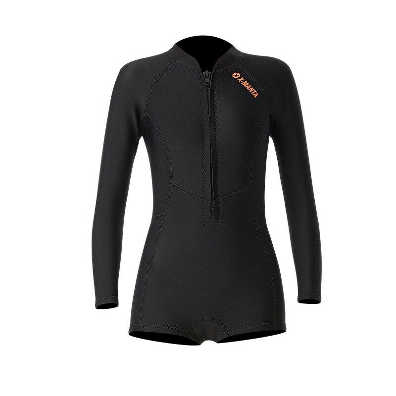 1,5 мм неопрен бикини гидрокостюм УФ Защита с длинным рукавом Дайвинг костюм купальный костюм серфинг подводное плавание чулки купальники - Цвет: Bikini Black