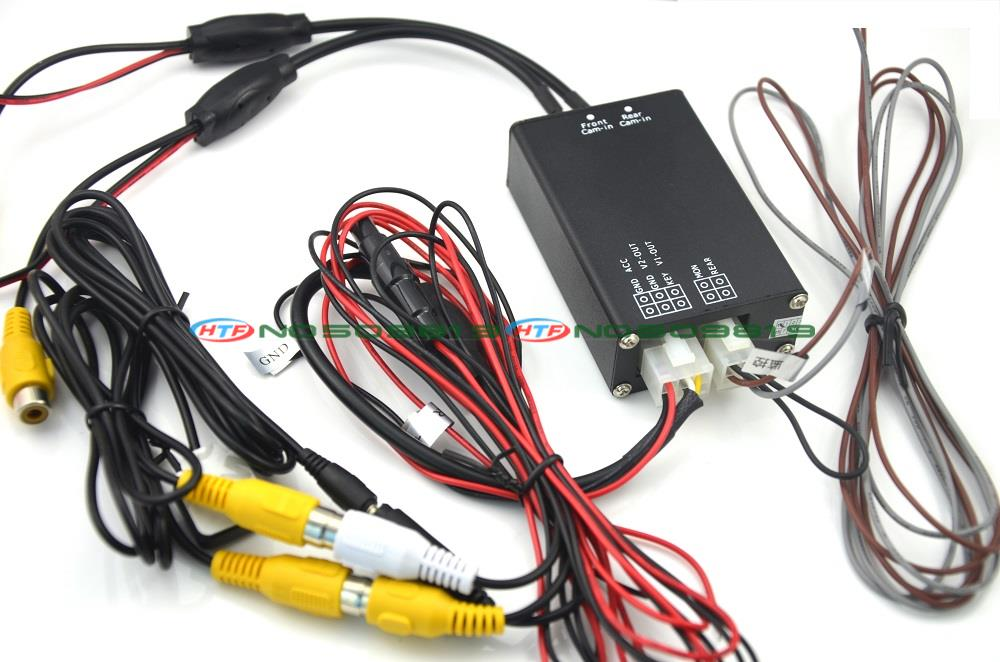 Two font b Cameras b font Image Switch Control Box for Front View Rear View Parking