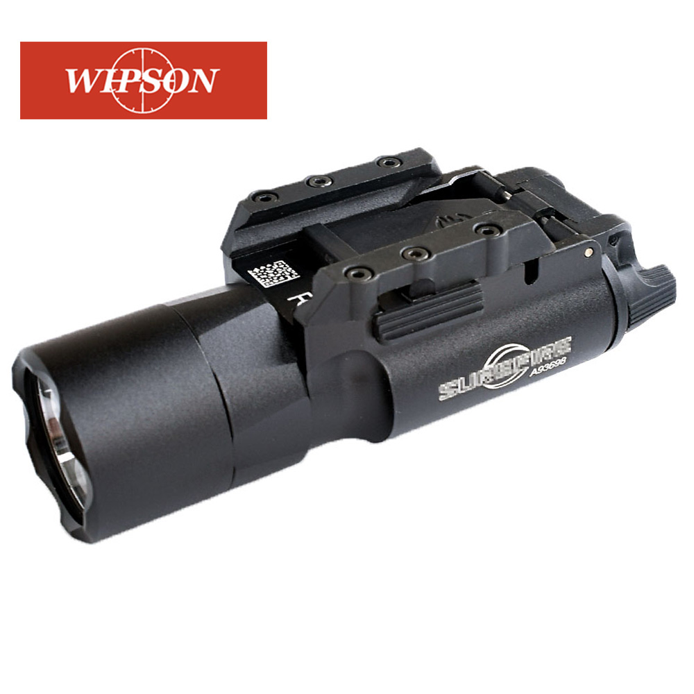 WIPSON Тактический X300 X300U вспышка светильник Водонепроницаемый оружие светильник пистолет светодиодный налобный фонарь винтовка с крепление...