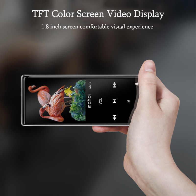 Mahdi M210 16G bluetooth MP3 odtwarzacza odtwarzacz muzyczny Sport odtwarzacz przenośny odtwarzacz bezstratnej HiFi TFT 1.8 cal ekran radia FM nagrywania