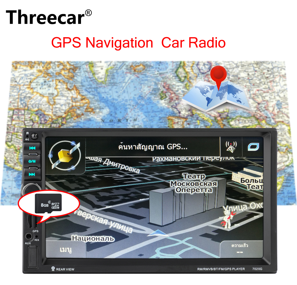7020G double 2 DIN voiture audio auto radio Bluetooth 7 ''DVR écran tactile autoradio 2din GPS Navigation stéréo FM USB TF autoradio
