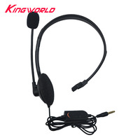 10pcs single ear small earphone Wired with Microphone Headphones for PS4 Mini gaming earphones black bag