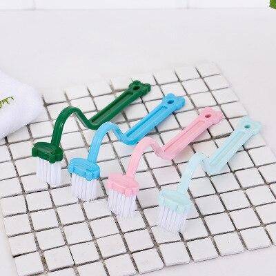 10 Pcs Engrossado Bend Punho Limpo S-em forma de Escova de Vaso Sanitário Dentro Canto WashingToilet Aleatória Escova Escova De Plástico das Crianças cor
