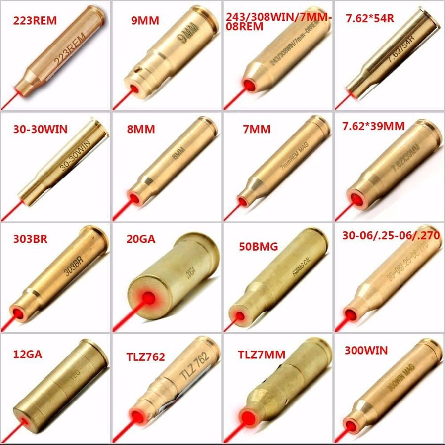 Red Dot Laser In Ottone Boresight CAL Cartuccia Bore Sighter Per Ambito di Caccia Laser Munizioni Proiettile Laser Della Cartuccia del Laser