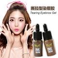 2 Colores/Lot Nueva Brown Gel de Cejas de Larga Duración A Prueba de agua Ceja Enhancer Mujer Maquillaje Cosméticos Kit de Maquillaje de Cejas Ojo cejas