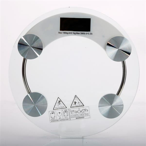 03A 180KG /100G High Strength Toughened Glass 4 Digits LCD Display Electronic Weighting Scale Transp Bathroom Scales     - title=