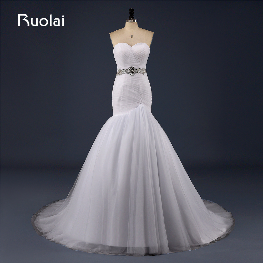 Real Africa Simple Wedding Dresses for Black Women Sweetheart Mermaid Wedding Dresses 2017 with Crystal Robe de Mariage FW100