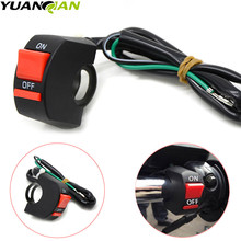YUANQIAN Newest Universal Handlebar Fog Light Switch Motorcycle Headlight FOR ON/OFF Button Moto Accessory