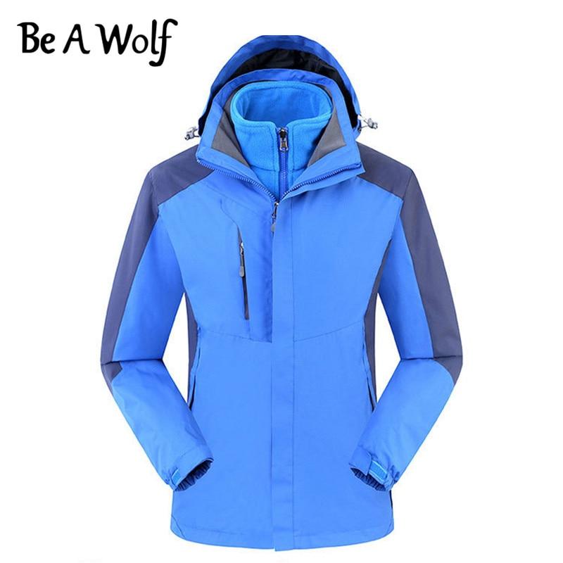 Be A Wolf Hiking Jackets Men Women Outdoor Camping Winter Heated Waterproof Fishing Clothing Skiing Windbreaker Jacket 910