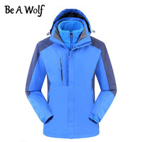 Be A Wolf Hiking Jackets Men Women Outdoor Camping Winter Heated Waterproof Fishing Clothing Skiing Windbreaker