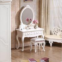 Европейский зеркальный стол Современная спальня комод французская мебель белый французский туалетный столик o1181