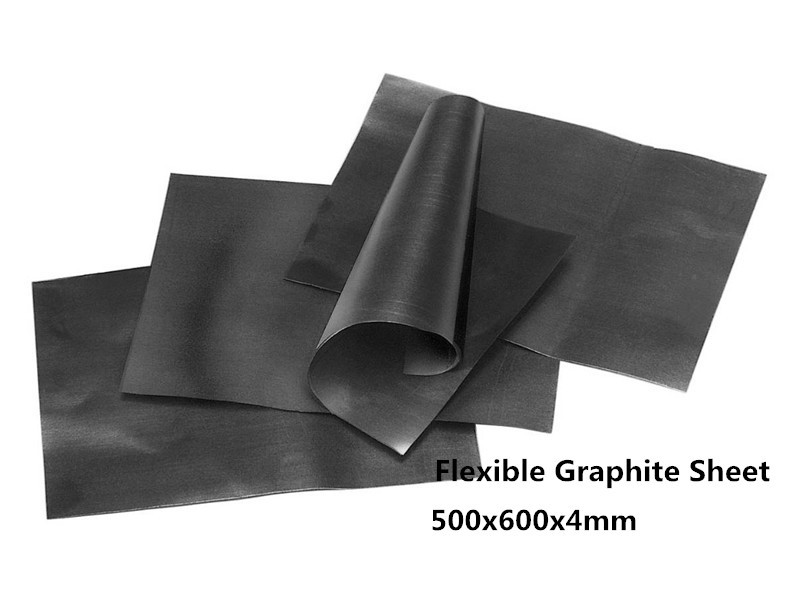 500x600x4mm Flexible Graphite Paper , Pure graphite paper Thermal material, flexible graphite film sheet 300x300x0 025mm high heat conducting graphite sheets flexible graphite paper thermal dissipation graphene for cpu gpu vga