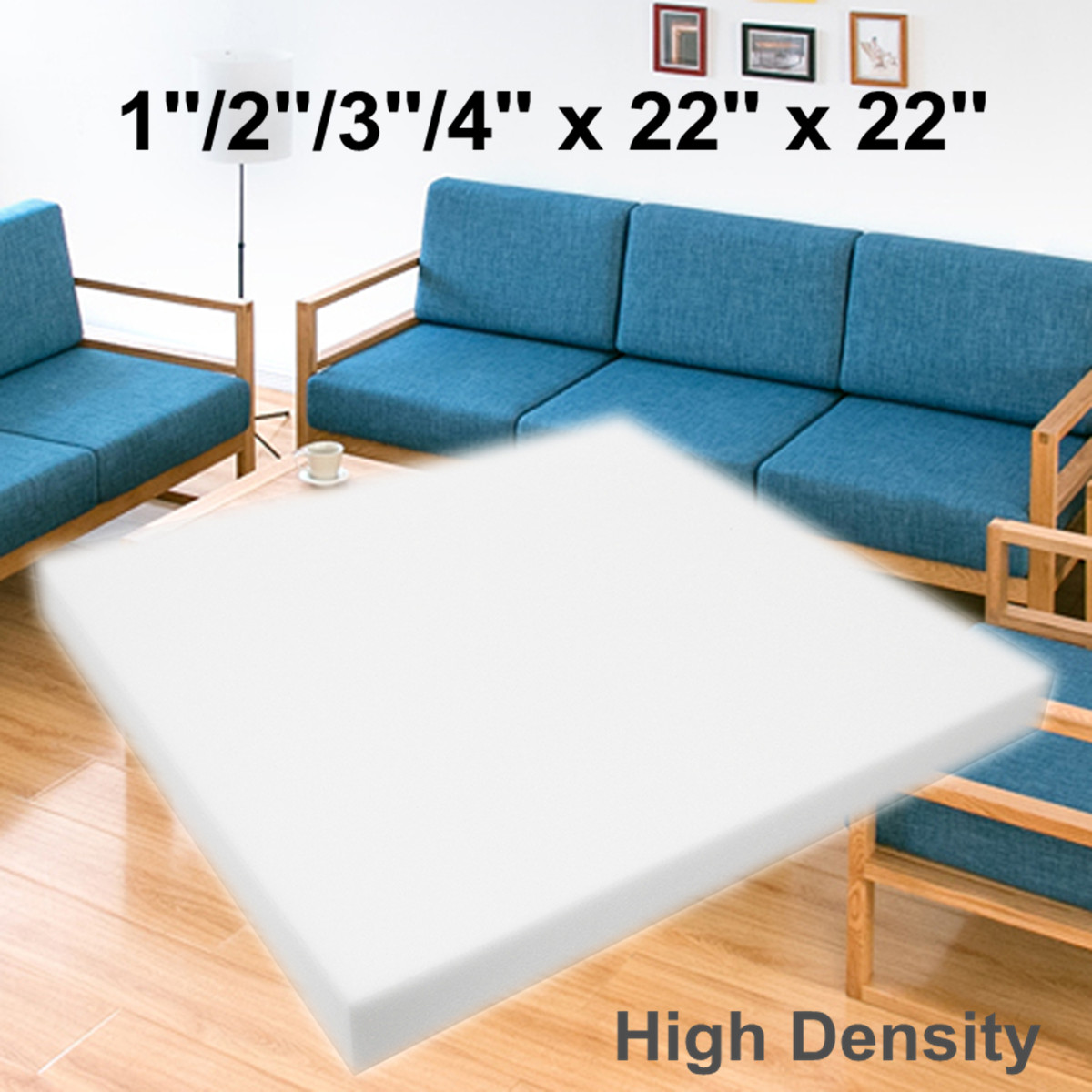 55x55cm High Density Upholstery Cushion Foam Chair Sofa Seat Foam Pad Sheet Mattress Bed Floor High Density Upholstery Cushion