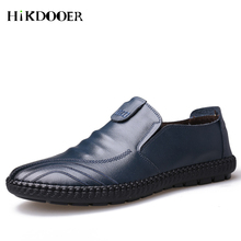 New Arrival Men Casual Leather Shoes Slip-on Flat Shoes Top Quality zapatos de hombre Comfortable leather shoes men цены онлайн