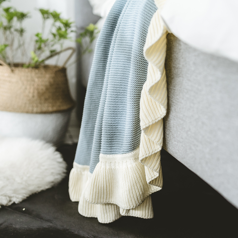 chunky knit blanket for bed sofa cotton soft aircondition throw blankets adult summer knit Bedspread solid quilt in Blankets from Home Garden