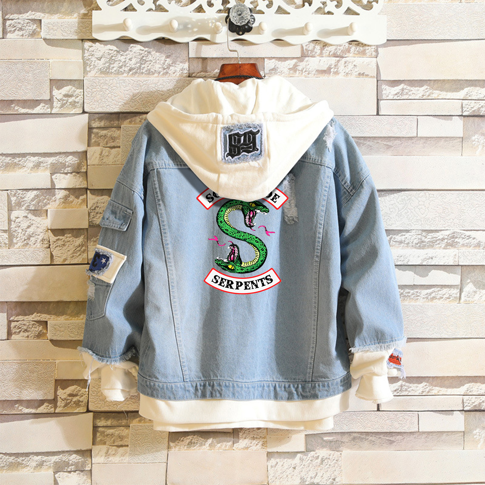 Clothing Denim Jacket Southside Serpents Jean Stitching Coat Harajuku Boys Girls Fans Riverdale Hoodies Hot Sale Jackets Modis