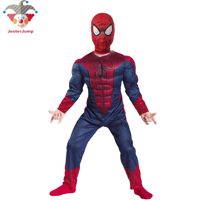 Anime Cosplay Spiderman Costume For Girls Halloween Children Fansty Polyester Muscle Spider Man Costume Superhero Superman Suit