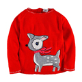 Christmas Sweater for Girls Winter Kids Knitted Sweater Deer Carnival Costumes for Children Fashion Pullover Boys Sweater 2-7Yrs