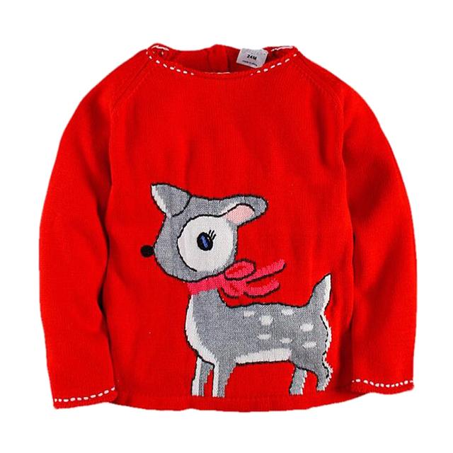 Suéter de Invierno de Las Muchachas Niños de Punto Ciervos de navidad Carnaval Disfraces para Niños 2-7años Muchachos Suéter Suéter de La Manera