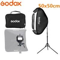 Godox Softbox 50x50cm Flash Diffuser Photo Studio Photography Kit With S Type Bracket Comet Mount Holder