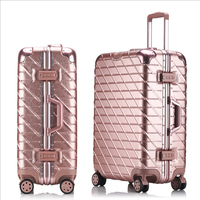 20 24 26 29''Aluminum Large Capacity PC Shell Suitcase TSA Lock Carry on Spinner Wheel Travel Rolling Luggage Trolley Boarding