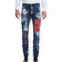 Весна Лето мужские рваные джинсы новый стиль узкие джинсы мужские рваные джинсы мужская одежда 2018 хип хоп джинсы Уличная одежда
