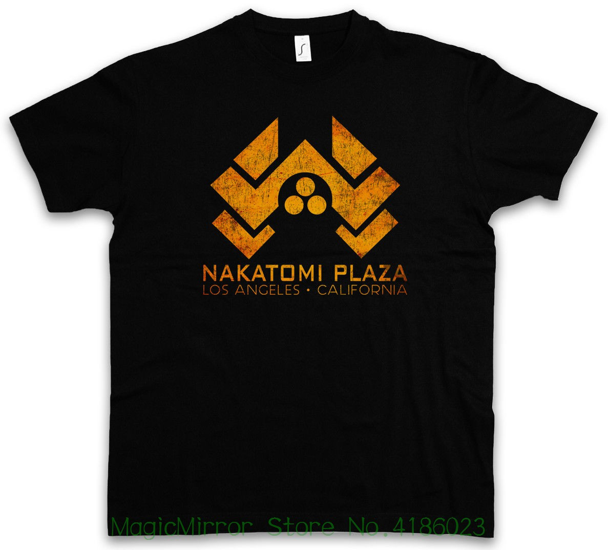 Nakatomi Plaza Sign T-shirt - Skyscraper Hard Bureau Summer O-neck Hipster Tops