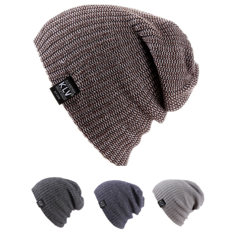 Unisex Women Men Winter Baggy Beanie Knit Crochet Oversized Hat Slouch Cap 5 Color hot sale unisex winter plicate baggy beanie knit crochet ski hat cap