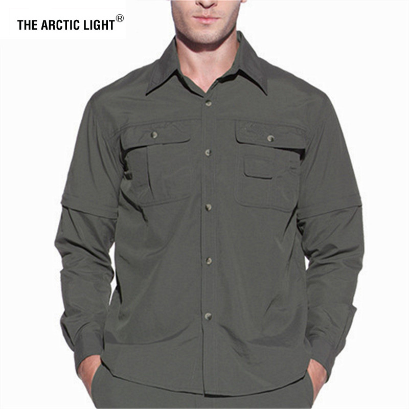 Hiking Shirt ARCTIC Hunting Fishing Army Quick-Dry Summer Breathable Male THE Men LIGHT