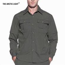 Arctic мужская летняя рубашка быстросохнущая для походов съемная