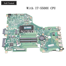 NOKOTION DA0ZRTMB6D0 laptop motherboard For acer Aspire E5-573G SR23W I7-5500U Main board DDR3L Works