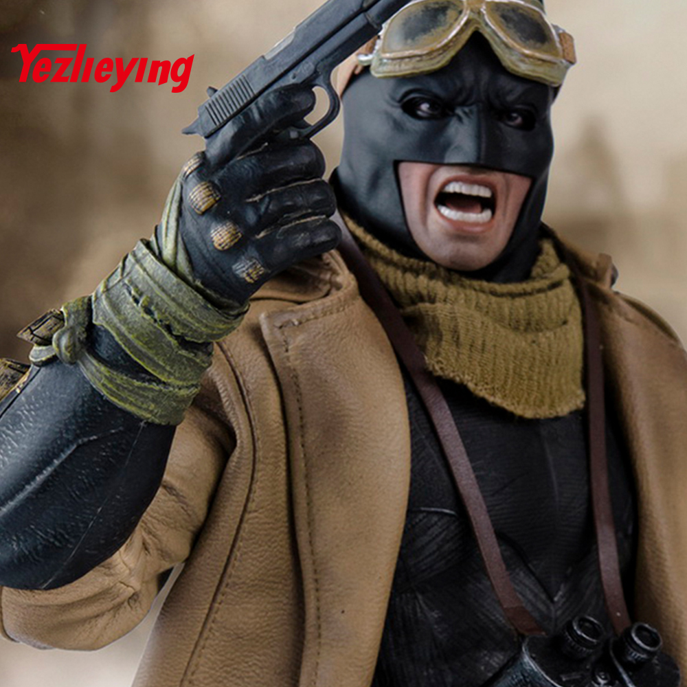 1 6 Scale batman action figure Bust Nightmare Edition Wjltoys Batman War Superman Desert Suit for 12 Inch Hottoys action figures in Action Toy Figures from Toys Hobbies