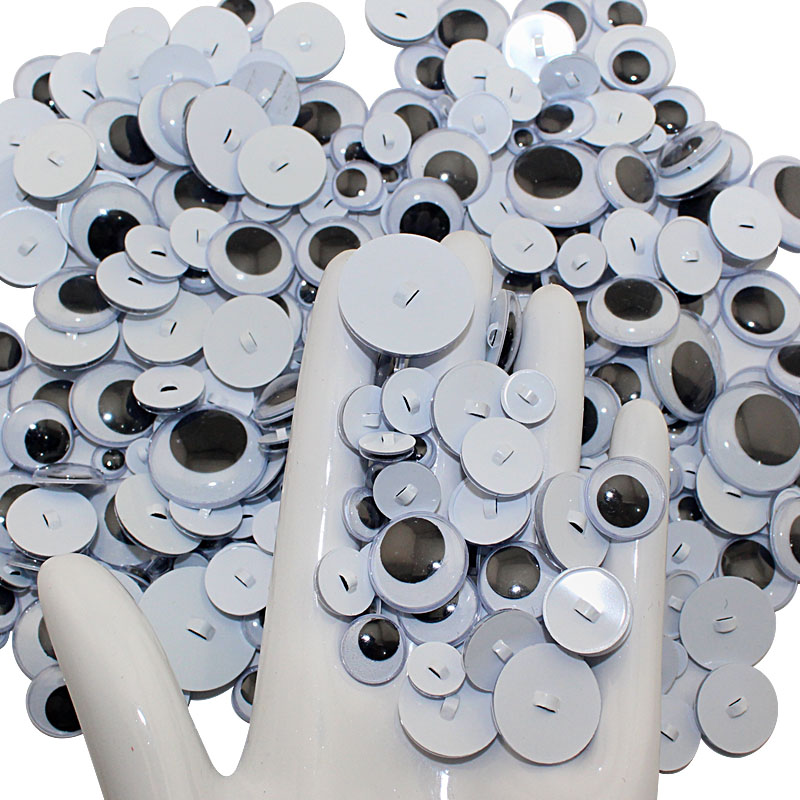 100PCS Sewing eye Wiggle Doll eyes Googly Safety Toy eyes Masking Accessory hallowen decoration
