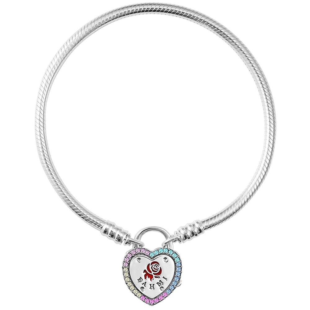 FAHMI 2019 nouveau Design Original 100% 925 argent Sterling Original véritable 1:1 bracelet à breloques tempérament bricolage perlé femmes bijoux