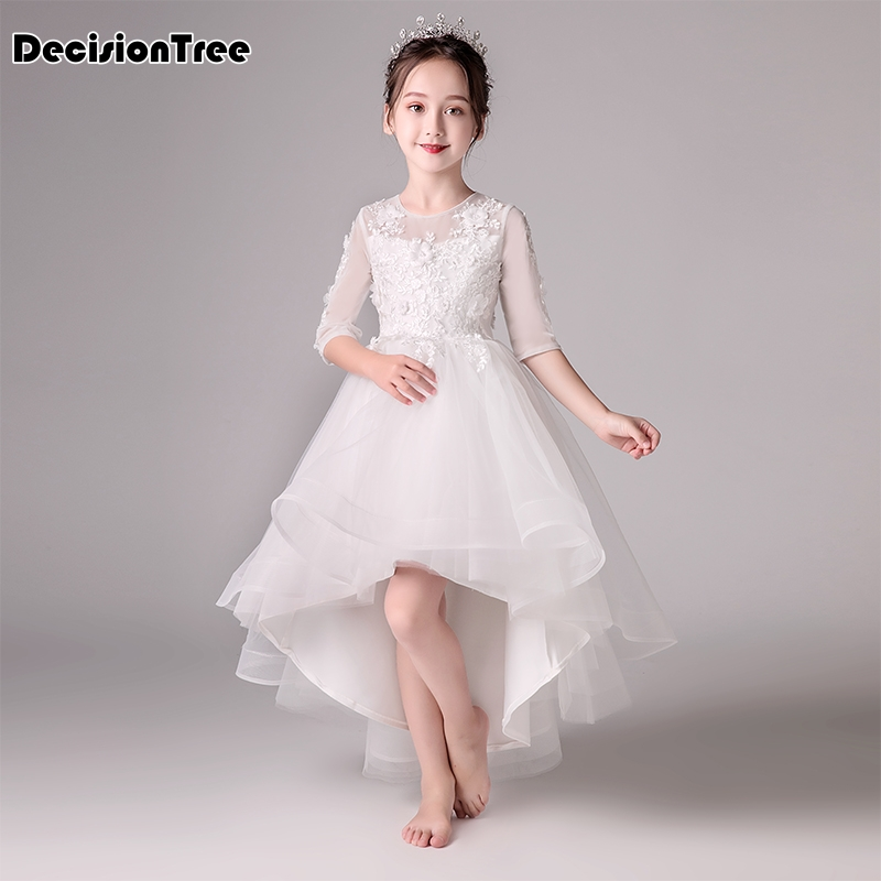 2019 new baby party dress for girls lace flower wedding kids tutu dresses children princess party dresses years sundress kids
