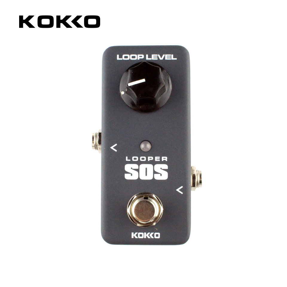 KOKKO FLP2 LOOP Looper Bass Guitar Effect Pedal 5 Minutes Recording Time Save and Recovery Overdub True Bypass Guitar Effects joyo ironloop loop recording guitar effect pedal looper 20min recording time overdub undo redo functions true bypass jf 329