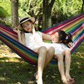 Strong Bearing Capacity Double Hammock Canvas Outdoor Adult Garden Thickening Lengthened Widened 2 Person Hamak Rede 200*150cm
