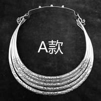 hot sell new free shipping Handmade 5 layers of national wind collars, silver and elegant clavicle necklaces