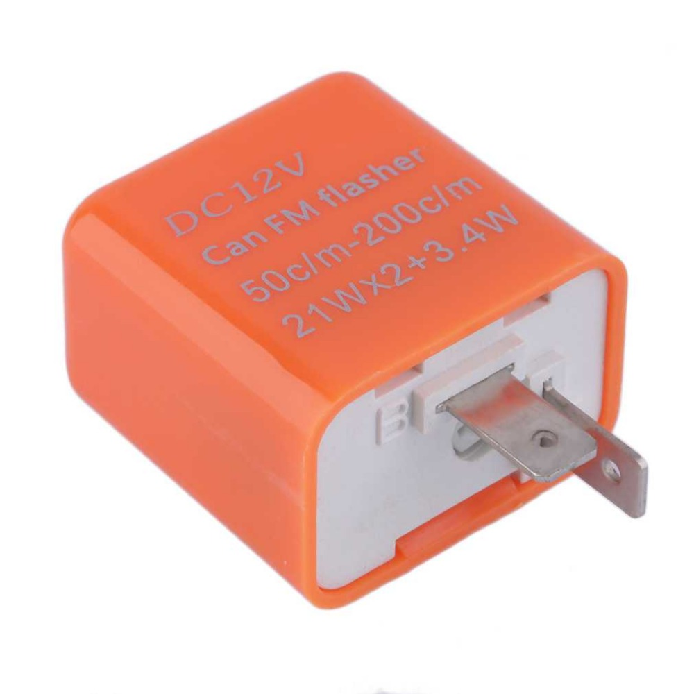 2 Pin Universal Speed Adjustable LED Flasher Relay Motorcycle Turn Signal Indicator Easy To Install Indicator Orange