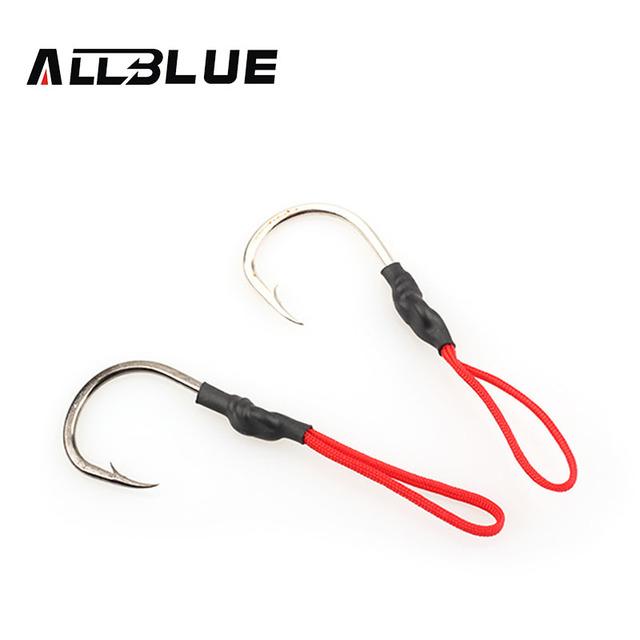 ALLBLUE Stainless Steel Jigging Spoon Fishing Hook 10pcs