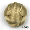 New 1PC Braided pigtail Hair extensions buns Synthetic Blonde Dome  twist  wholesale Fashion Hair bun extension Free shipping