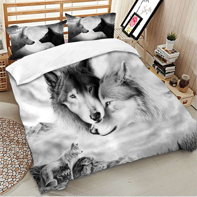Wolf bedding sets 3D Printing animal duvet cover pillowcase single twin full queen king size bedlinen dropshipping