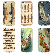 Trout Panel Painting fish Slim Soft phone case For Huawei Honor 4c 5c 5x 6x V10 Y5 Y6 Y7 II Mate 8 9 10 P8 P9 P10 Lite plus 2017(China)