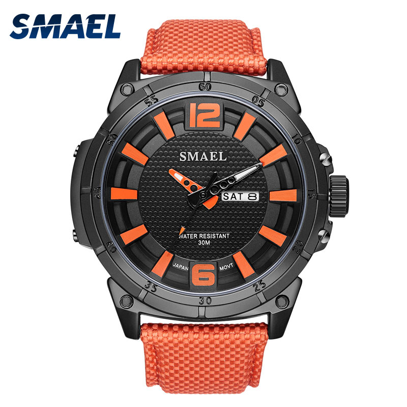 Mens Analog Quartz Watches Leather SMAEL Big Watch Men Alarm relogio Cool Sport Watch Waterproof 1316 Men Watches Digital Sports shiweibao cool watch men sport watch men golden big case four time zones military watches date leather strap mens quartz watches