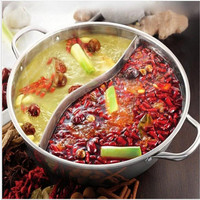 New Good Quality Stainless Steel Duck Hot Pot Thick Stainless Steel Pots Cooker Special Pot Little Sheep Hot Pot Ruled