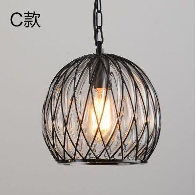 Edison Bulb Loft Style Vintage Industrial Pendant Light Lamp with Glass Shade цена